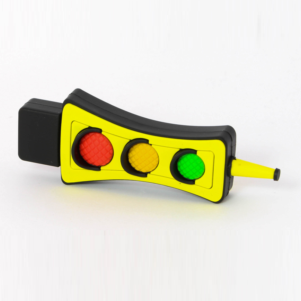 3D usb stick in vorm van stoplicht