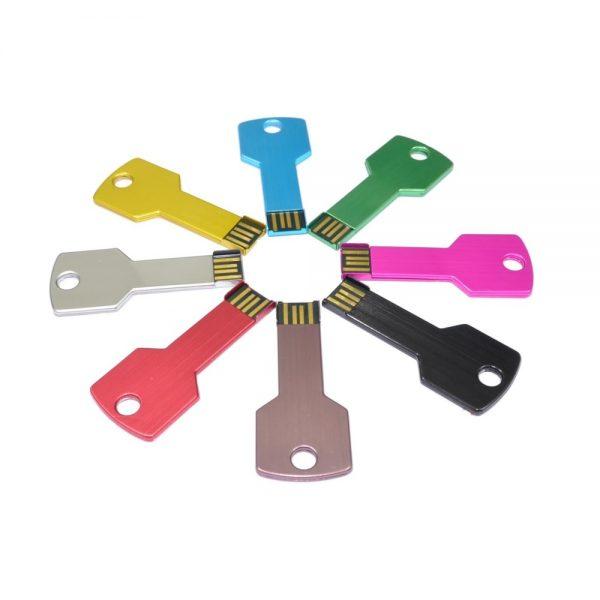 sleutel usb stick in verschillende kleuren