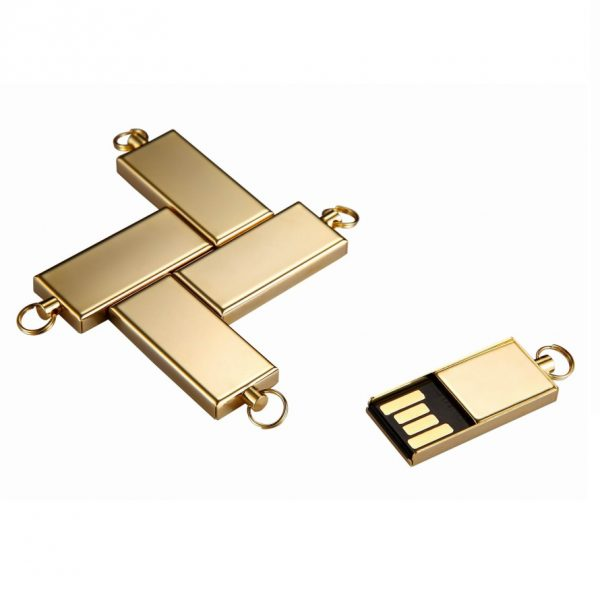 mini usb stick goud bedrukken